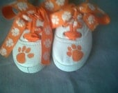 Clemson Tiger Hand Painted Shoes  (boutique sample)