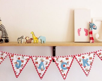 SAMPLE SALE!*** Personalized cowboy bunting (Cath Kidston fabric) nursery decoration