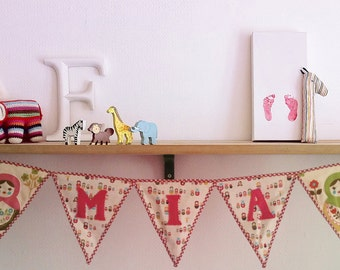 SAMPLE SALE! ***Russian Babushka Doll nursery bunting decoration