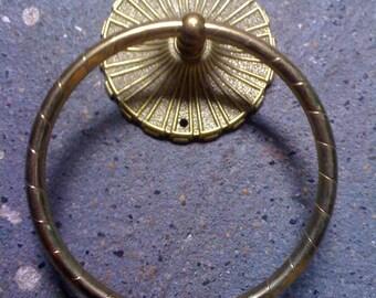 Vintage allied Brass towel ring
