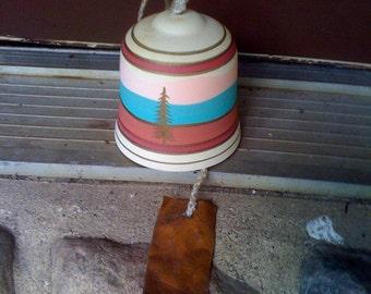 vintage handmade pottery ceramic bell Southwest
