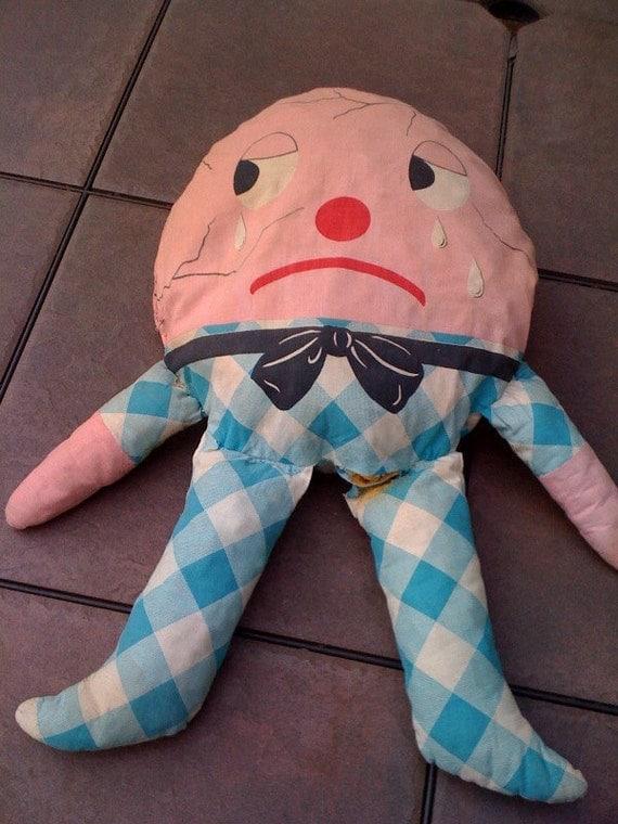 vintage Humpty Dumpty Pillow panel