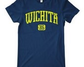 Women's Wichita 316 T-shirt - S M L XL 2x - Ladies Wichita Tee - Kansas - 4 Colors
