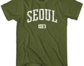 Seoul T-shirt - Men and Unisex - XS S M L XL 2x 3x 4x - Korea Tee - 4 Colors
