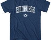 Edinburgh T-shirt - Men and Unisex - Scotland Tee - XS S M L XL 2x 3x 4x - 4 Colors
