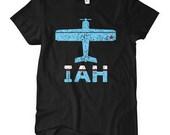 Women's Fly Houston Tee - IAH Airport T-shirt - S M L XL 2x - Ladies Houston Texas Shirt - 3 Colors