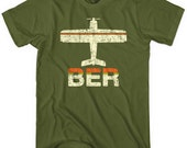 Fly Berlin T-shirt - BER Airport - Men and Unisex - XS S M L XL 2x 3x 4x - Berlin Germany Tee - 3 Colors