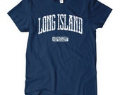 Women's Long Island Represent Tee - S M L XL 2x - Ladies Long Island T-shirt - New York - 4 Colors