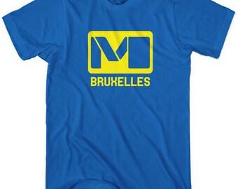 Brussels Metro T-shirt - Men and Unisex - XS S M L XL 2x 3x 4x - Bruxelles Belgium Tee - 4 Colors