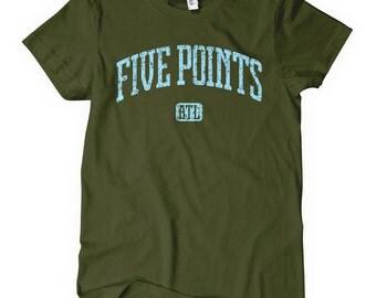 Women's Five Points Atlanta T-shirt - S M L XL 2x - Ladies' Atlanta Tee - ATL - 4 Colors