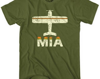 Fly Miami T-shirt - MIA Airport - Men and Youth - XS S M L XL 2x 3x 4x - 3 Colors