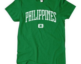 Women's Philippines T-shirt - S M L XL 2x - Ladies' Filipino Tee - Pilipinas - 4 Colors