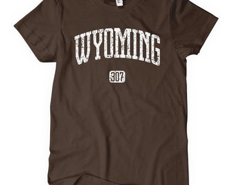 Women's Wyoming 307 Tee - S M L XL 2x - Ladies Wyoming T-shirt - 4 Colors