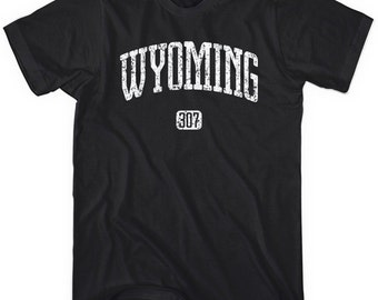 Wyoming 307 T-shirt - Men and Unisex - XS S M L XL 2x 3x 4x - Tee - 4 Colors
