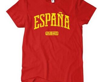 Women's Espana T-shirt - S M L XL 2x - Ladies' Spain Tee - 4 Colors