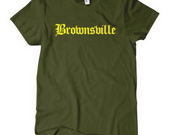 Women's Brownsville Gothic T-shirt - S M L XL 2x - Ladies Brooklyn Tee - New York City - 4 Colors