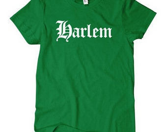 Women's Harlem T-shirt - Gothic NYC - S M L XL 2x - New York City - Ladies' Harlem Tee - 4 Colors