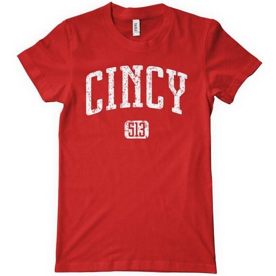 Women's Cincy 513 T-shirt - Cincinnati - S M L XL 2x - Ladies Cincinnati Tee - 4 Colors