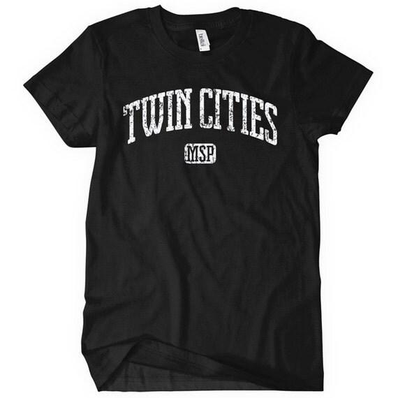 Women's Twin Cities T-shirt - S M L XL 2x - Minneapolis St. Paul - Ladies' Tee - Minnesota - 4 Colors