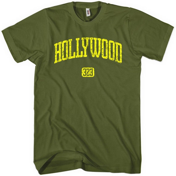 Hollywood 323 T-shirt - Los Angeles - Men and Unisex - XS S M L XL 2x 3x 4x - Hollywood Tee - 4 Colors