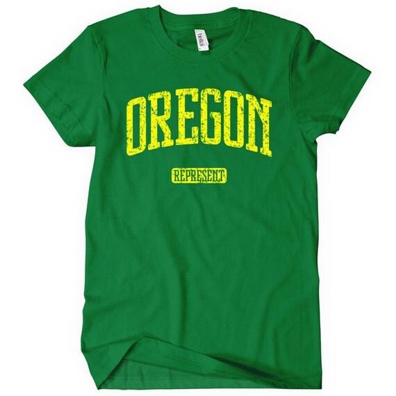 Women's Oregon Represent T-shirt - S M L XL 2x - Ladies Oregon Tee - 4 Colors