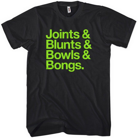 Joints Blunts Bowls Bongs T-shirt - Men - XS S M L XL 2x 3x 4x - Weed Tee - 4 Colors
