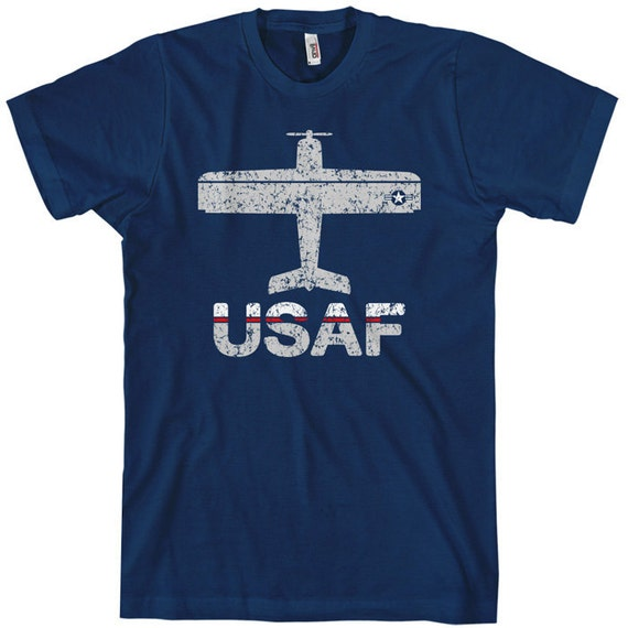 Fly USAF T-shirt - Air Force Tee - Men and Unisex - XS S M L XL 2x 3x 4x - 3 Colors