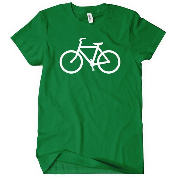 Women's Bike Route T-shirt - S M L XL 2x - Ladies Cycling Tee - Bicycle - 4 Colors