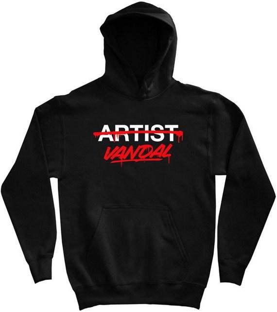 Vandal Not Artist Hoodie - Men S M L XL 2x 3x - Graffiti Hoody Sweatshirt - Street Art - 2 Colors