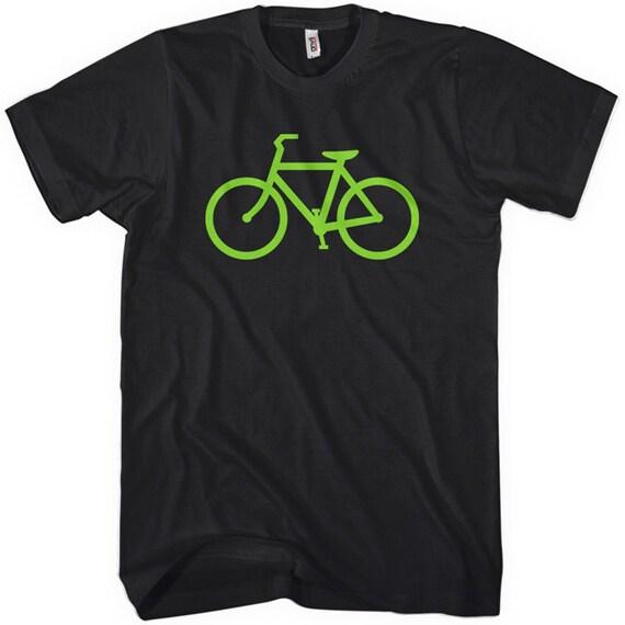 Bike Route T-shirt - Men and Unisex - XS S M L XL 2x 3x 4x - Cycling Tee - 4 Colors