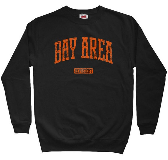 Bay Area Represent Sweatshirt - Men S M L XL 2x 3x - Crewneck Bay Area Shirt - San Francisco - Oakland - 4 Colors
