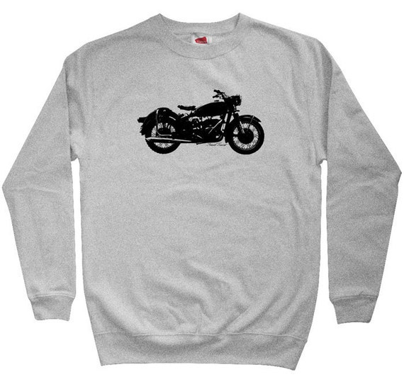 Vintage Motorcycle Sweatshirt - Men S M L XL 2x 3x - Crewneck Moto Shirt - 3 Colors