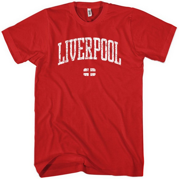 Liverpool T-shirt - Men and Unisex - XS S M L XL 2x 3x 4x - England Tee - 4 Colors