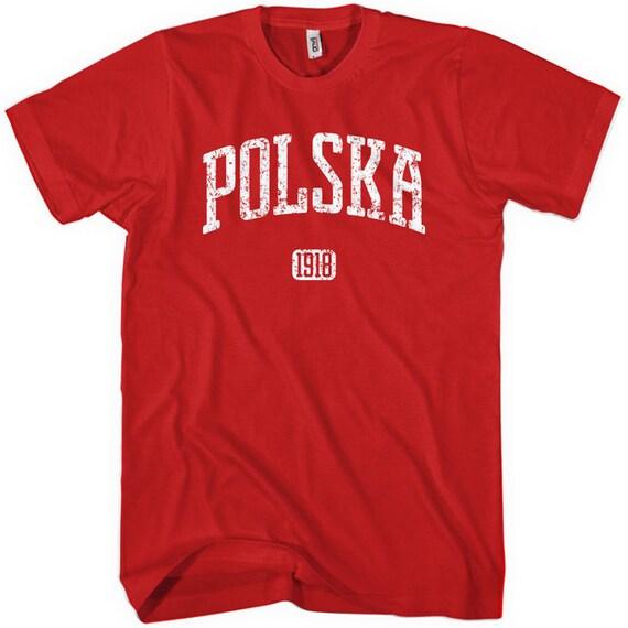 Polska T-shirt - Poland 1918 - Men and Unisex - XS S M L XL 2x 3x 4x - Polish Tee - 4 Colors