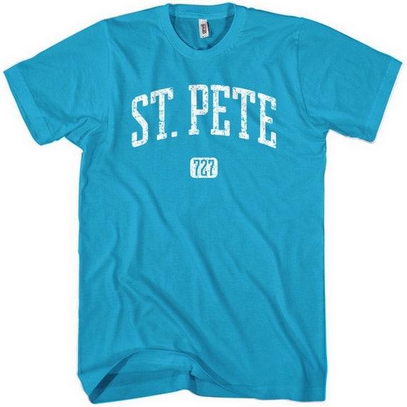 St. Petersburg 727 T-shirt - Men and Unisex - XS S M L XL 2x 3x 4x - St. Pete Florida Tee - 4 colors