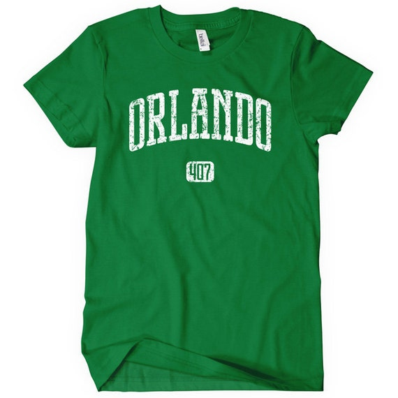 Women's Orlando 407 T-shirt - S M L XL 2x - Ladies Orlando Florida Tee - 4 Colors