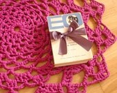 Crochet Rug - Dark Magenta