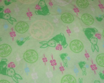 Rabbit Baby Bedding Crib Fitted Sheet Rabbit with  Pillowcase Green