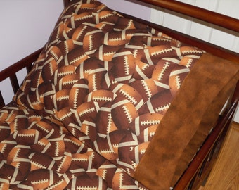Football Baby Bedding Crib Toddler Football Fitted Sheet with standard pillowcase