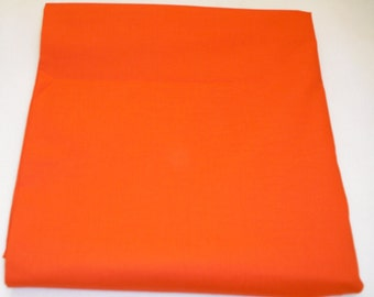 TangerineSolid Color  Baby Toddler Bed Fitted Sheet Orange
