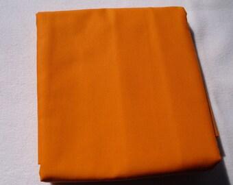 Solid Color Orange  Baby Toddler Bed Fitted Sheet Orange