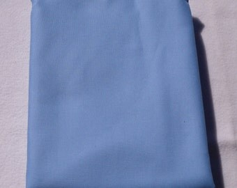 Blue Solid Color  Baby Toddler Bed Fitted Sheet Cotton Candy Blue