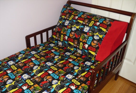 Star Wars Baby Toddler Fitted Sheet Standard Pillowcase
