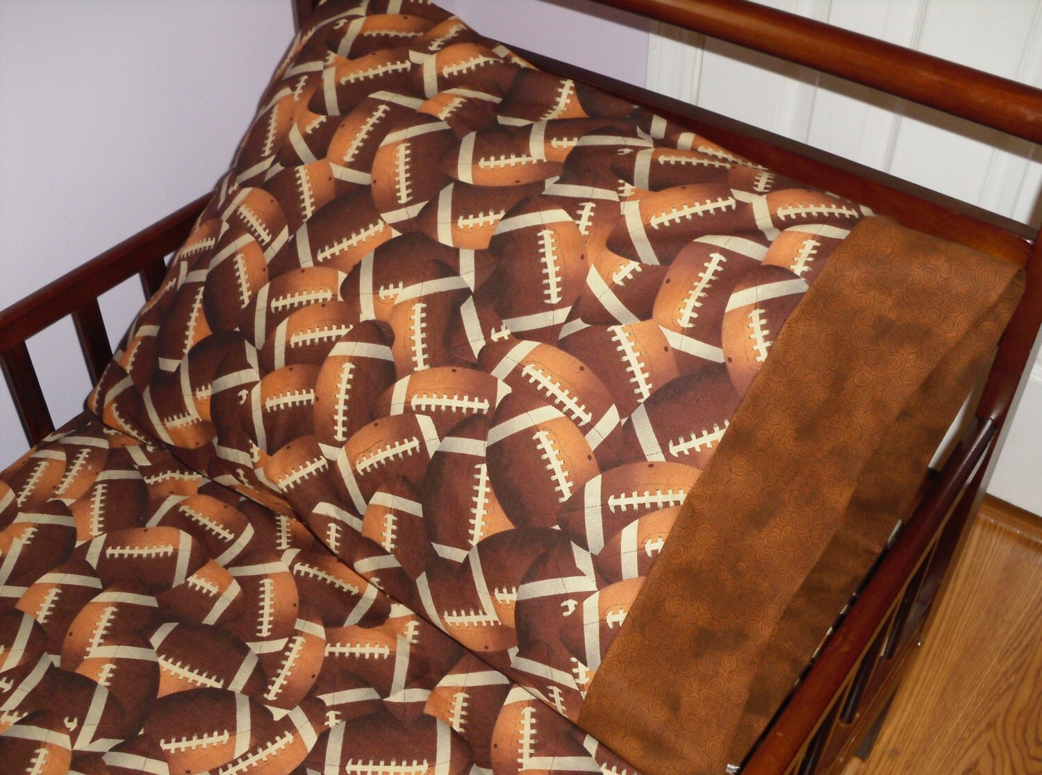 Football Baby Bedding Crib Toddler Football Fitted Sheet with