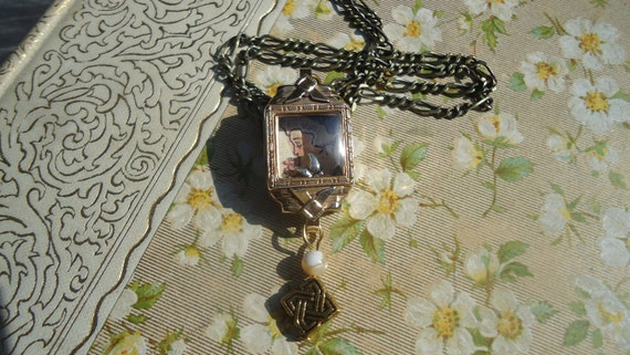 Shadowbox Watch Part Pendant with a soul