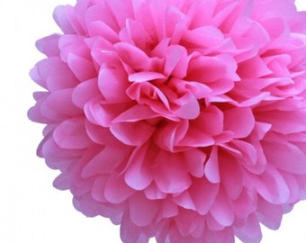 BUY 5 GET 1 FREE Tissue paper pom pom Hot pink or the color of your choice.
