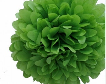BUY 10 GET two FREE Kelley Green  tissue paper flowers/wedding decorations/birthday party decorations/shower decorations/party decorations