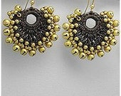 Bohemian Style Jingling Bells Brass Earrings FREE SHIPPING