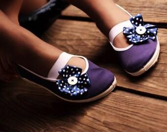 sailor's polka dot / navy blue sailor ballet flats shoes jarmilki wedding woman bride poletsy fashion gift romantic elegant spring summer