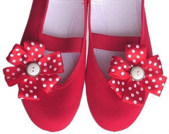 Sweet strawberry /ballet flats shoes jarmilki wedding woman bride poletsy fashion gift romantic elegant spring summer vintage red white dots